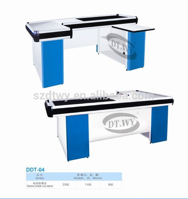 Best Quality Supermarket Checkout Counter/Used Supermarket Equipment Cashier Desk Equipment