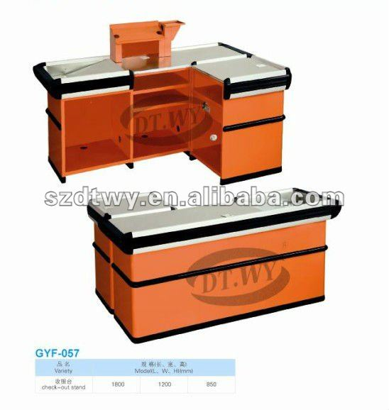 Checkout couters used in the supermarket with high quality and competitive price